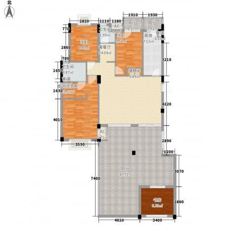 金易星辰4室1厅2卫1厨146.30㎡户型图