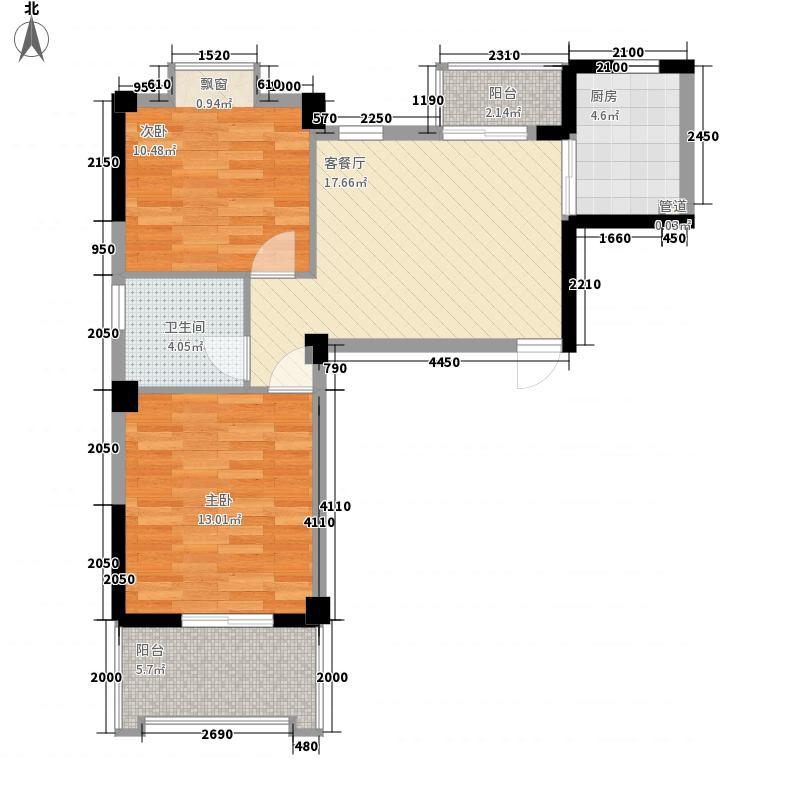 汇诚和源居77.00㎡汇诚和源居户型图2#12单元2室2厅1卫户型2室2厅1卫