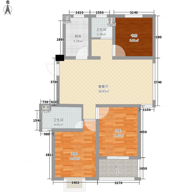 新城玉龙湾114.00㎡户型3室2厅2卫1厨