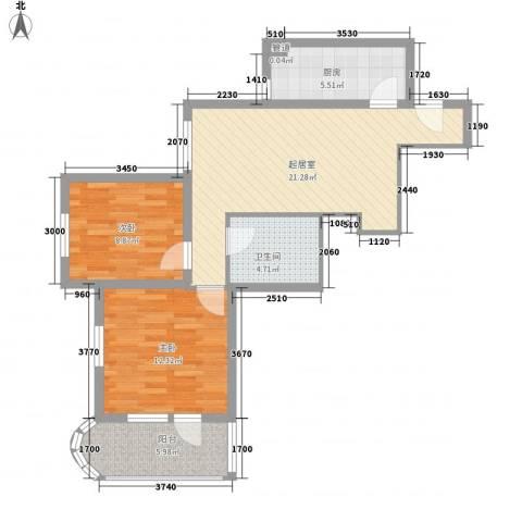 兴隆家园2室0厅1卫1厨81.00㎡户型图