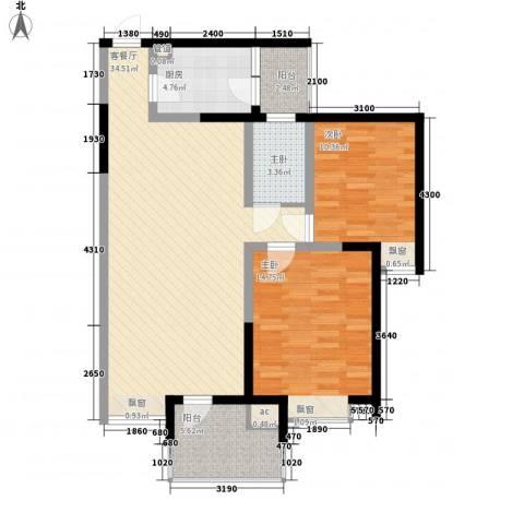 金博林居3室1厅0卫1厨88.00㎡户型图