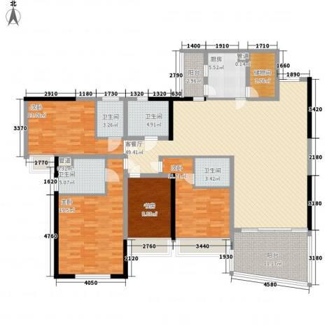 天骄峰景4室1厅4卫1厨207.00㎡户型图