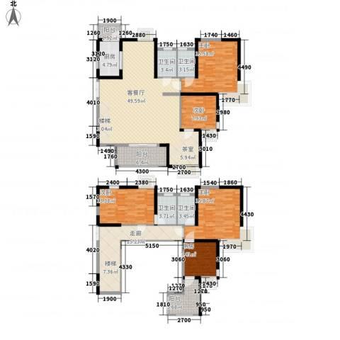 南昌华南城5室1厅4卫1厨224.00㎡户型图