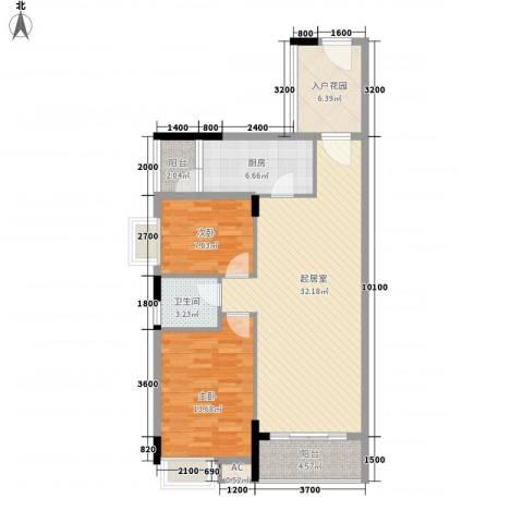 利丰城市花园2室0厅1卫1厨92.00㎡户型图