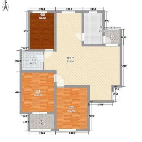 南门华府3室1厅1卫1厨131.00㎡户型图