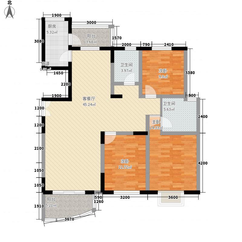 鸿运润园147.84㎡C区运安苑D1_2户型3室2厅2卫1厨