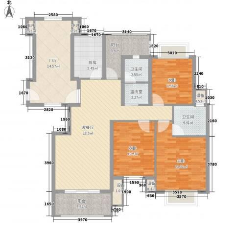 威尼斯水城别墅3室1厅2卫1厨149.00㎡户型图