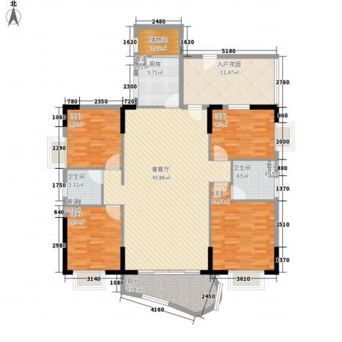 大金鼓广场4室1厅2卫1厨172.00㎡户型图