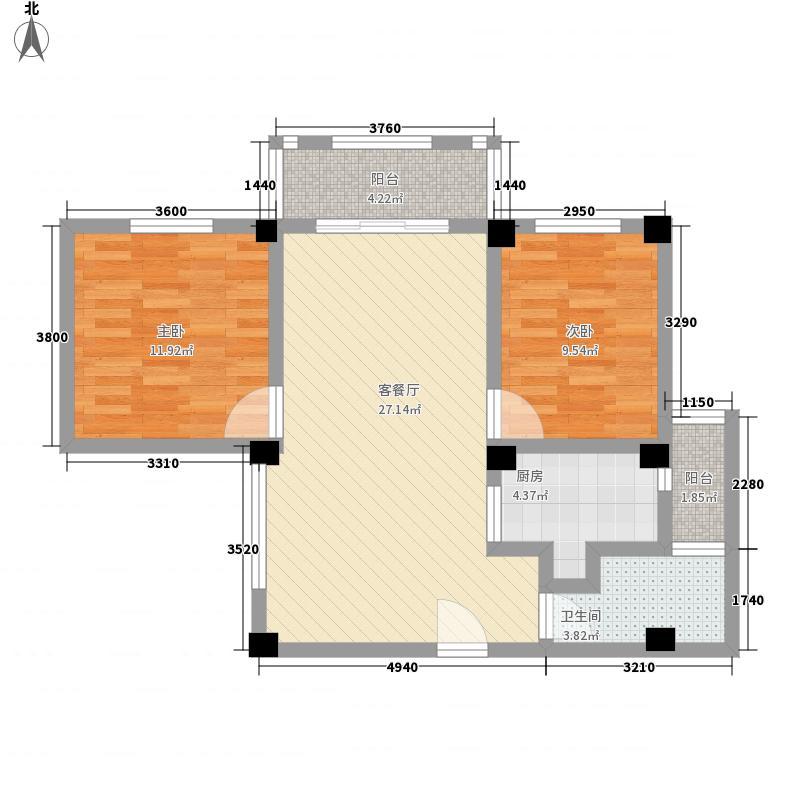 槟榔海山庄93.12㎡槟榔海山庄户型图2房户型图2室1厅1卫1厨户型2室1厅1卫1厨