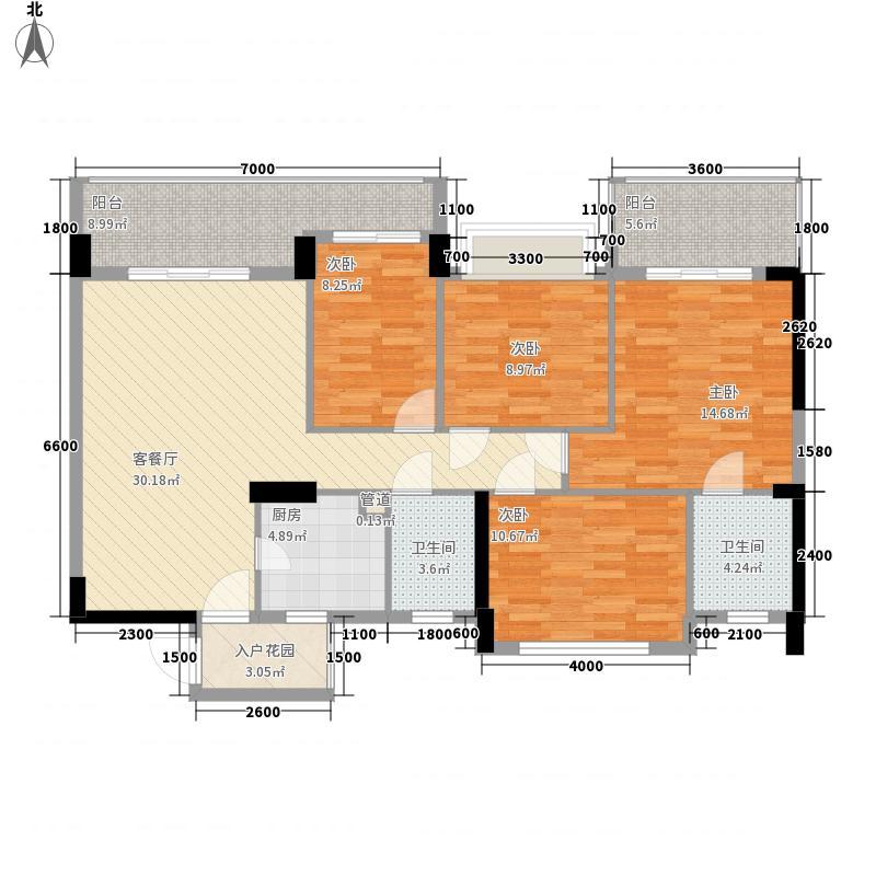 水岸华府133.20㎡7号楼2单元02号房户型3室2厅2卫1厨