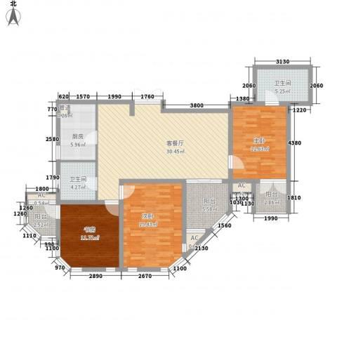 澜郡3室1厅2卫1厨143.00㎡户型图