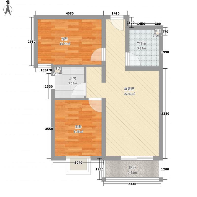 凤城盛世76.00㎡凤城盛世户型图N1户型2室2厅1卫1厨户型2室2厅1卫1厨