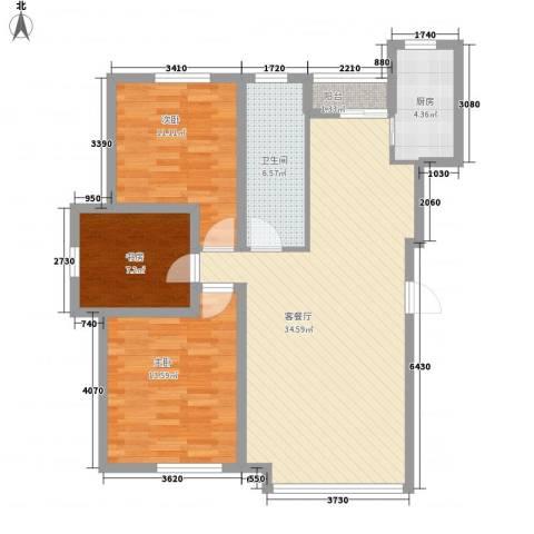 新华壹品3室1厅1卫1厨112.00㎡户型图