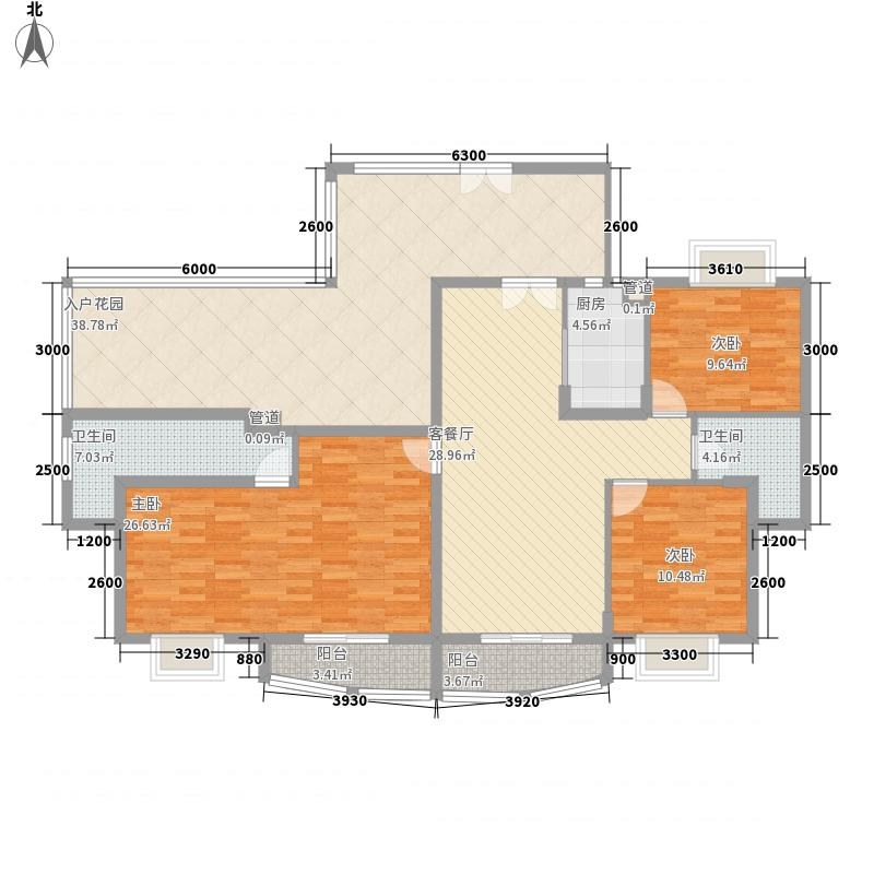 福隆广场三期海福湾146.21㎡福隆广场三期海福湾户型图鸿福豪居(B)户型3室2厅2卫户型3室2厅2卫