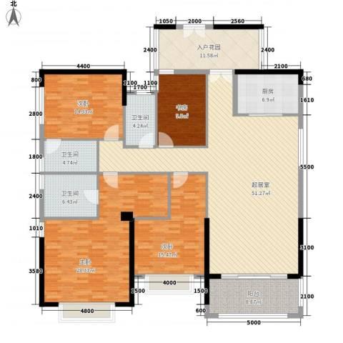 皇马郦宫4室0厅3卫1厨162.06㎡户型图