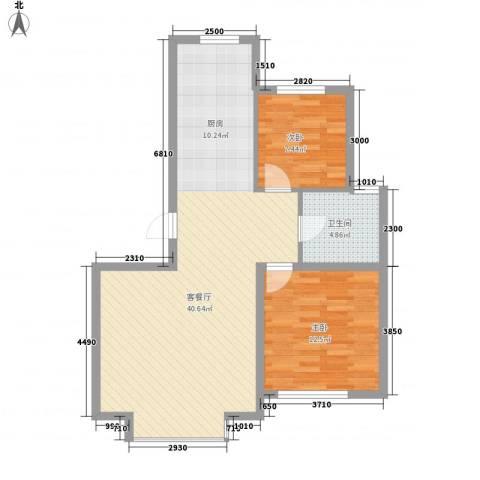 吉大菲尔瑞特2室1厅1卫0厨89.00㎡户型图