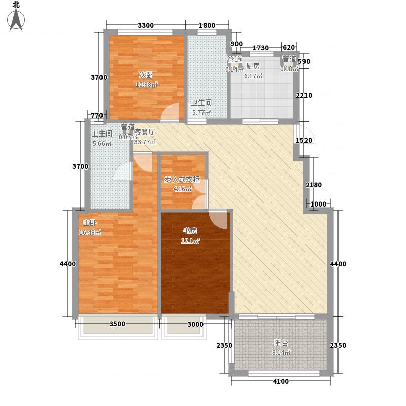 托乐嘉城市广场125.14㎡贵邻居组团E01#楼标准层G户型3室2厅2卫1厨