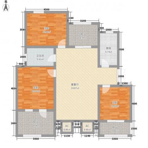泉山森林海3室1厅1卫1厨105.87㎡户型图