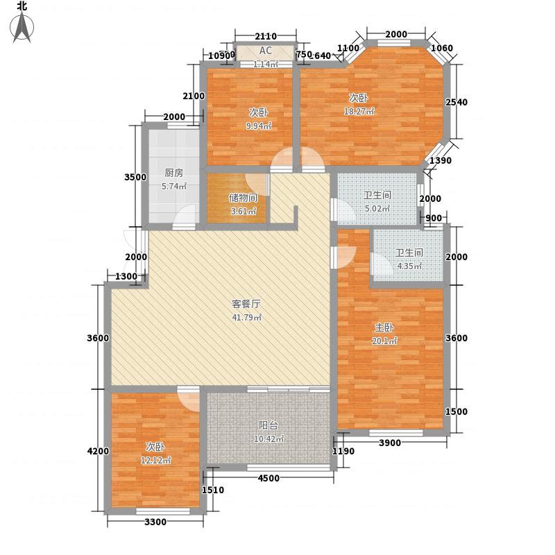 泉山森林海16.50㎡B一楼端户户型4室2厅2卫1厨