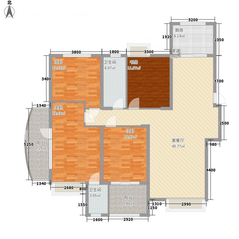 托乐嘉城市广场146.09㎡贵邻居组团E04#楼标准层D1户型4室2厅2卫1厨
