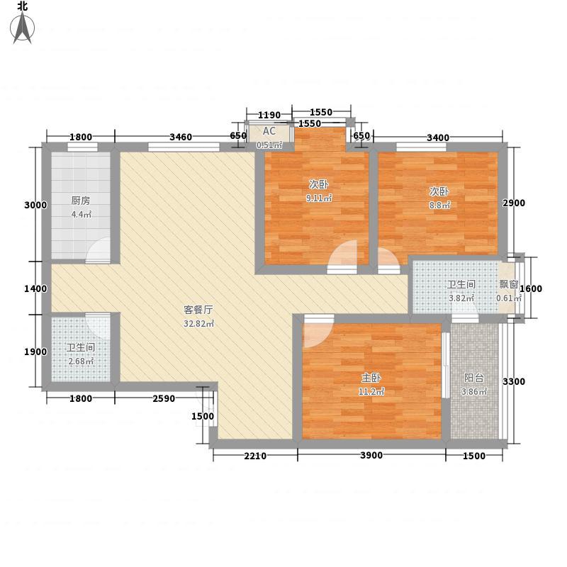 华府・西城港湾107.10㎡华府・西城港湾户型图21#-107.1平户型图3室2厅2卫1厨户型3室2厅2卫1厨
