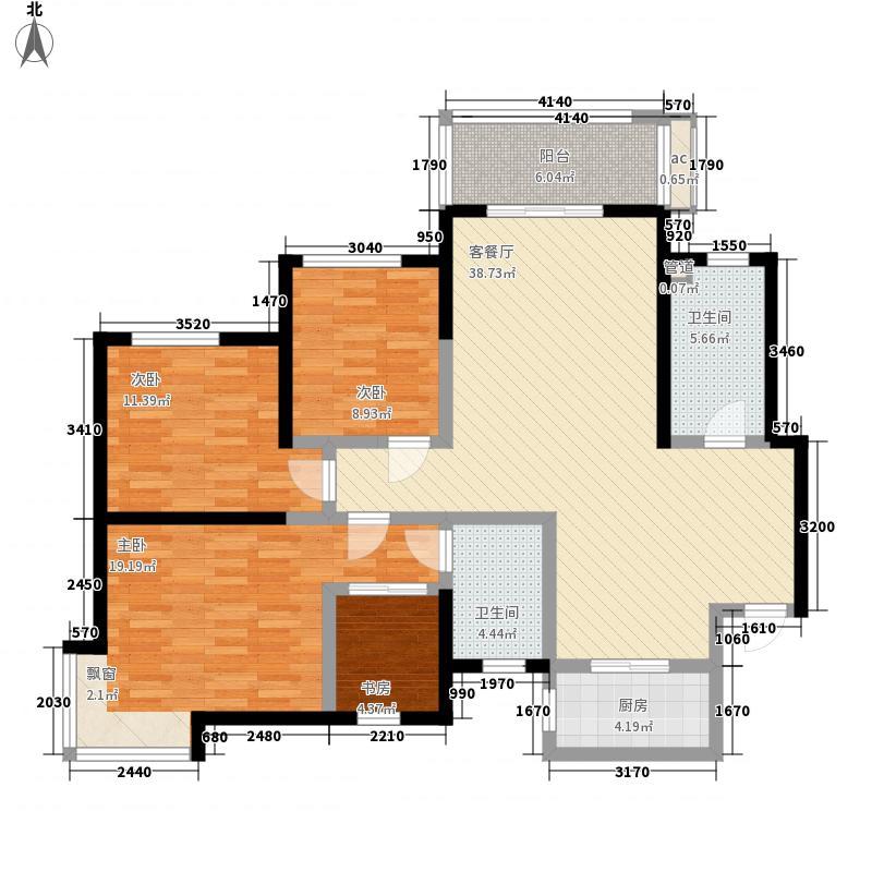 省政府家属院A户型:四房两厅两卫,137.85平米_调整大小户型4室2厅2卫1厨