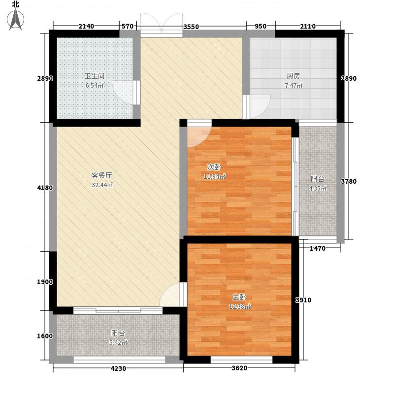 新千国际广场116.00㎡25号楼B户型2室2厅1卫1厨