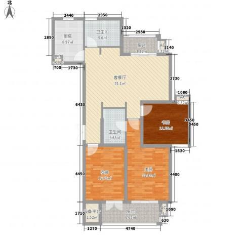 澜郡3室1厅2卫1厨146.00㎡户型图