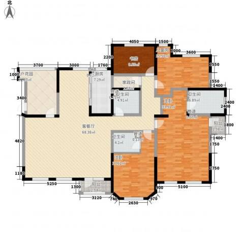 听雨观澜4室1厅3卫1厨226.00㎡户型图