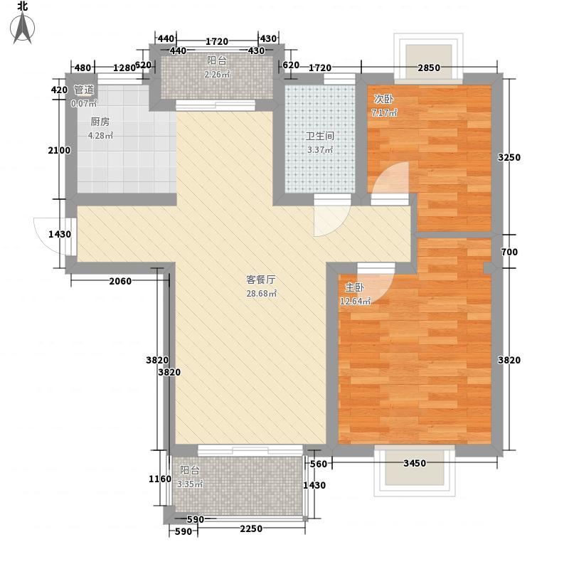 金榈湾84.00㎡金榈湾户型图D3一层及标准层2室2厅1卫1厨户型2室2厅1卫1厨