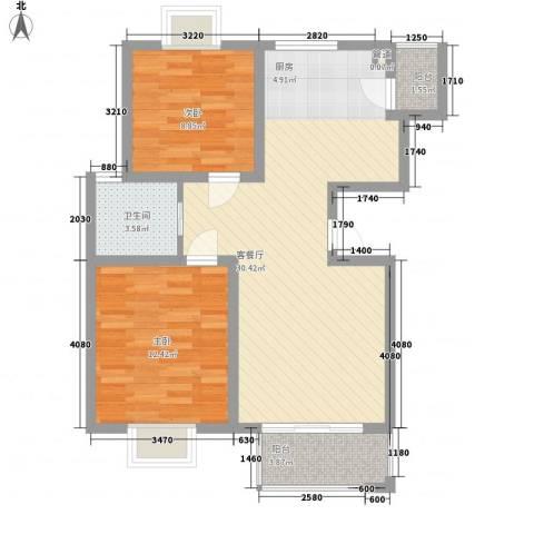 金榈湾2室1厅1卫0厨87.00㎡户型图