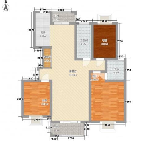 金榈湾3室1厅2卫0厨130.00㎡户型图