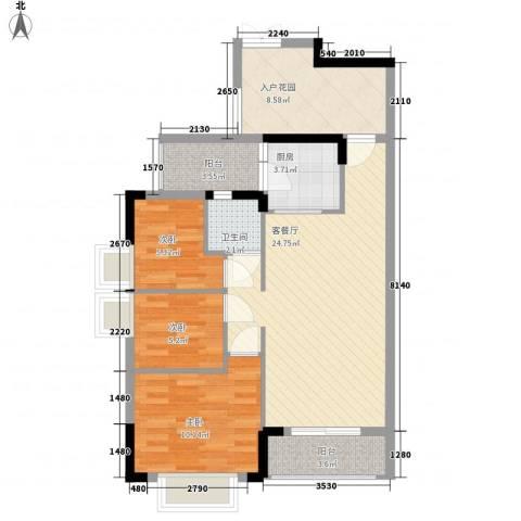 梦云南・雨林澜山3室1厅1卫1厨97.00㎡户型图