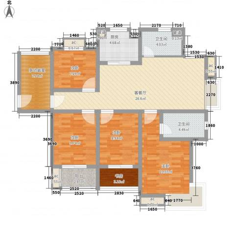 中瑾翰铂府5室1厅2卫1厨140.00㎡户型图