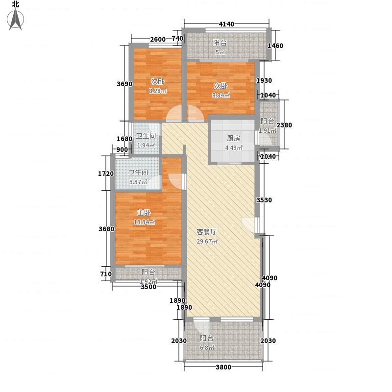 枫林盛景122.00㎡枫林盛景3室户型3室