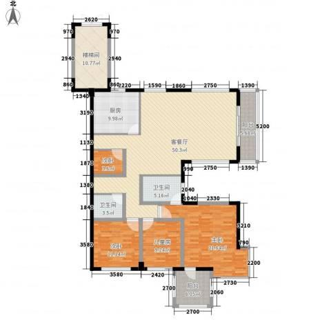 假日湾4室1厅2卫1厨149.00㎡户型图