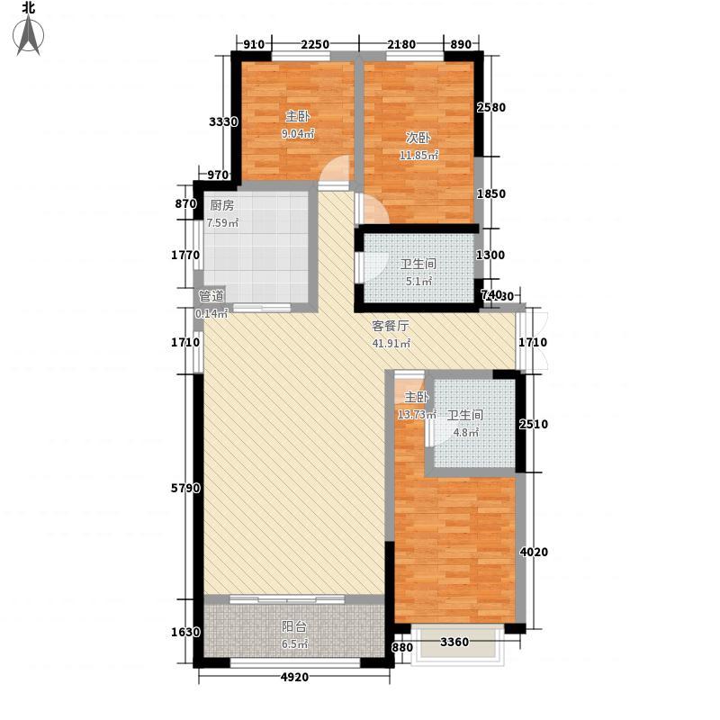 新千国际广场145.00㎡3号楼A户型3室2厅2卫1厨