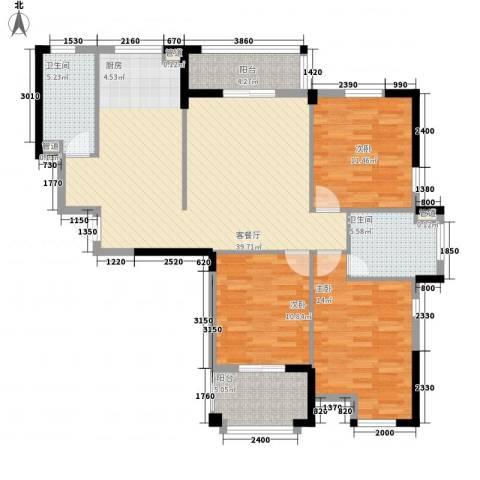星汇半岛二期3室1厅2卫0厨136.00㎡户型图