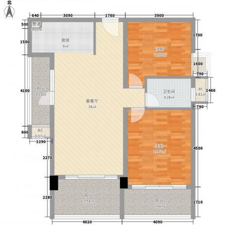 卡斯摩小区2室1厅1卫0厨127.00㎡户型图