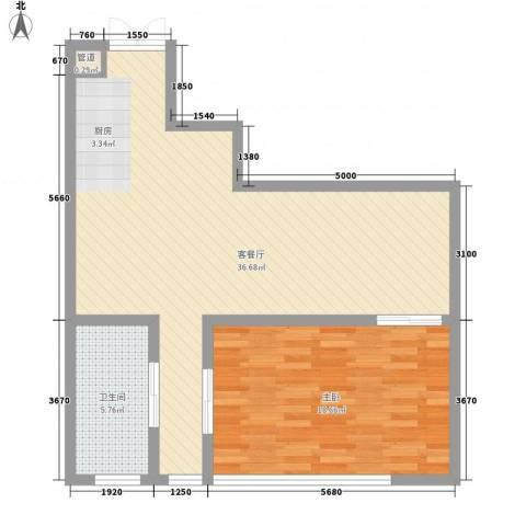 晋合公寓1室1厅1卫0厨90.00㎡户型图