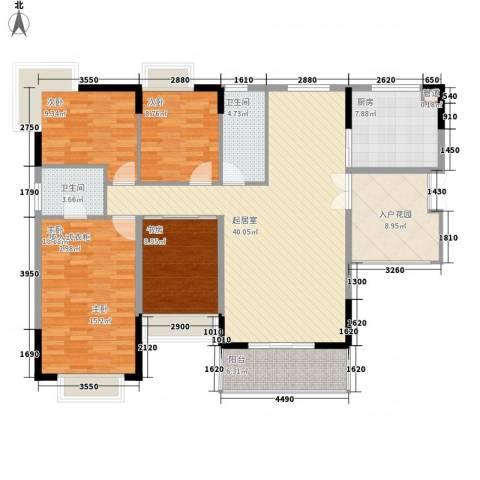 皇家公馆4室0厅2卫1厨159.00㎡户型图