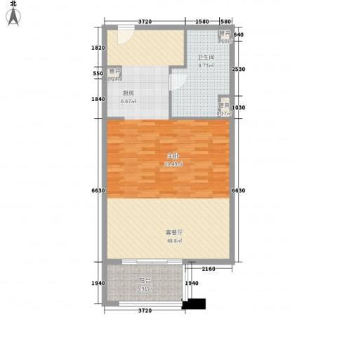 那香海国际旅游度假区1厅1卫0厨89.00㎡户型图