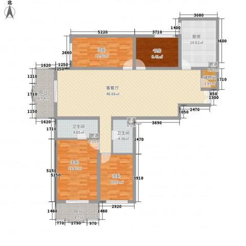 华盛乐章4室1厅2卫1厨179.00㎡户型图