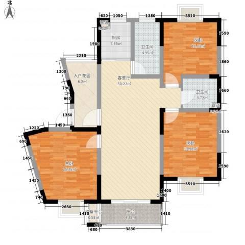 盛世翡翠3室1厅2卫1厨135.00㎡户型图