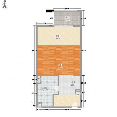 那香海国际旅游度假区1厅1卫0厨87.00㎡户型图