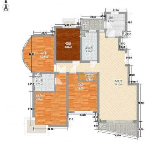 嘉乐之春4室1厅2卫1厨152.00㎡户型图
