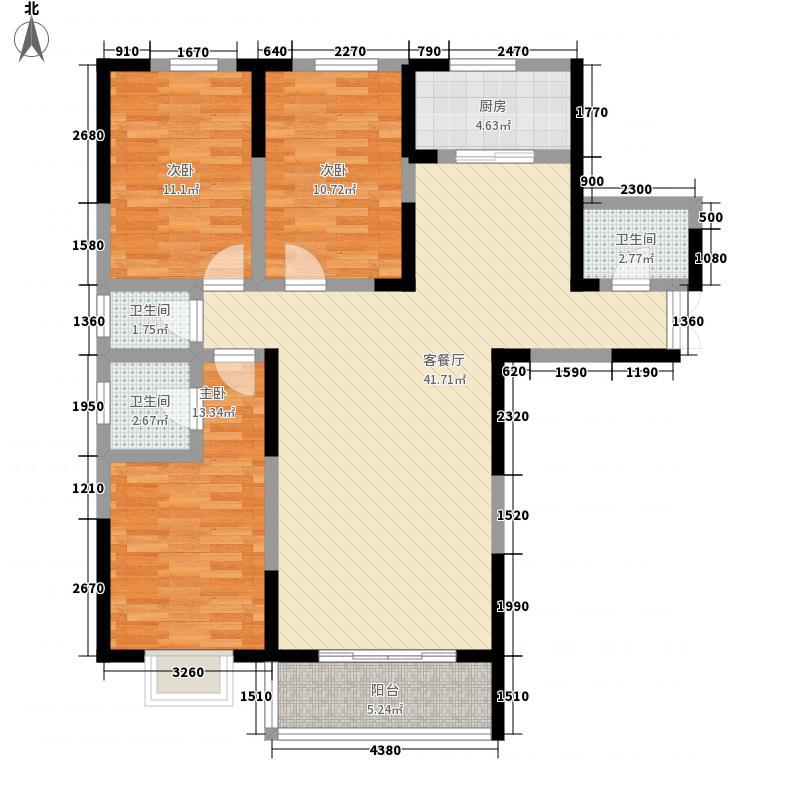 新千国际广场136.00㎡28号楼A户型3室2厅3卫1厨