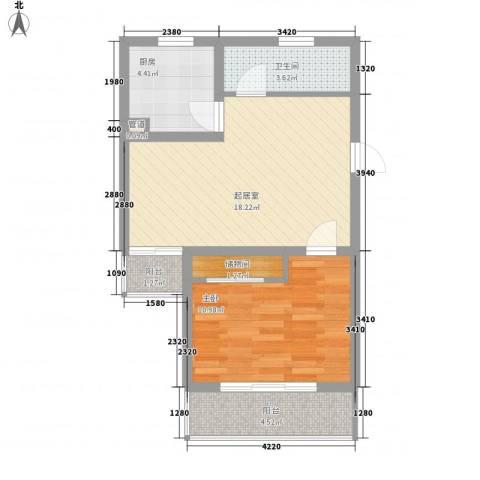 阳光迪金阁1室0厅1卫1厨65.00㎡户型图