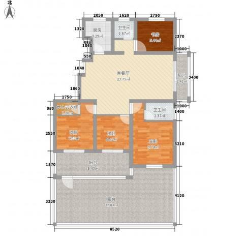诚德盛世原著4室1厅2卫1厨144.00㎡户型图