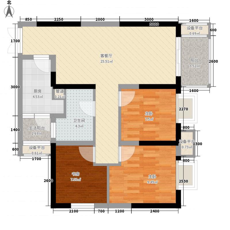 江屿朗廷三期B1栋标准层1/4/7/10号房户型